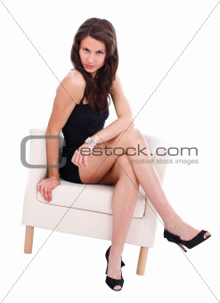 Sexy woman in armchair