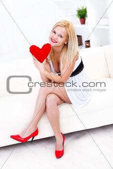 Sexy woman's heart