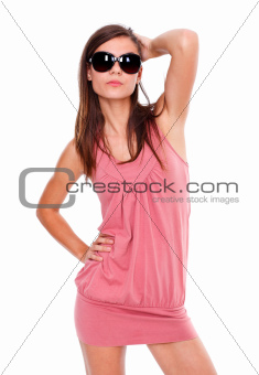 Serious girl with sunglasses