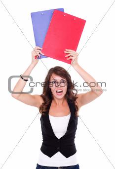 Angry student girl