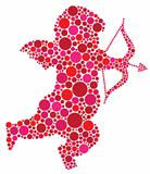 Valentines Day Cupid Silhouette with Dots