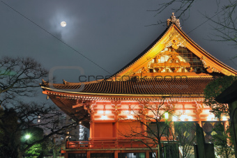 temple and moon