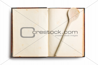 old blank recipe book