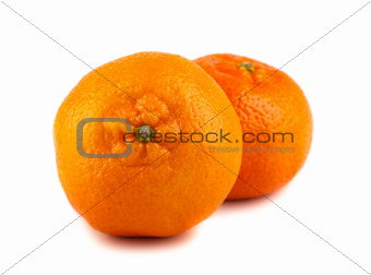 Pair of ripe tangerines