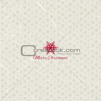 Grunge christmas snowflakes background