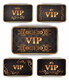 Elegant gold VIP cards