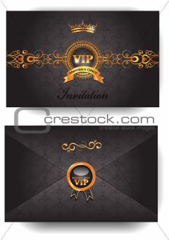 Elegant VIP invitation envelope with pattern