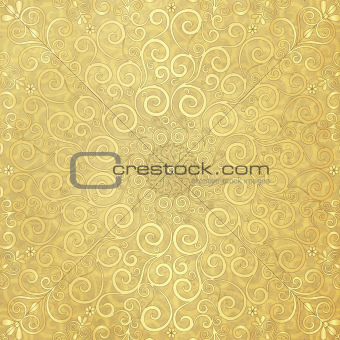 Old paper with gold  pattern