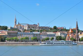 Danube river embankment in Budapest