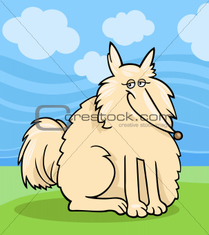 eskimo dog cartoon illustration