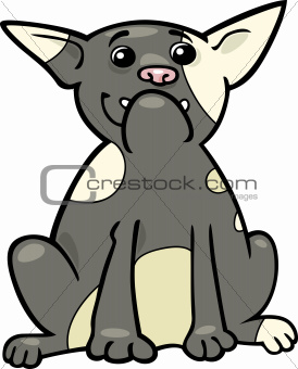 french bulldog cartoon illustration
