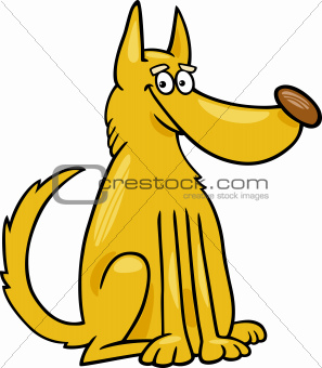 mongrel dog cartoon illustration