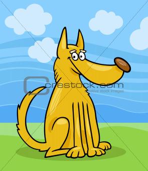 mongrel dog cartoon illustration