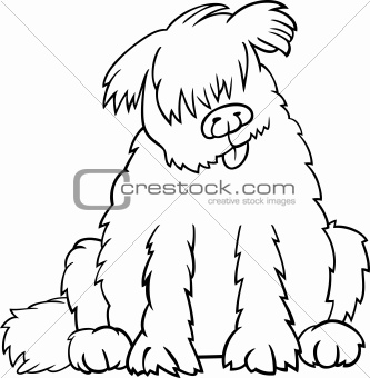 newfoundland dog cartoon for coloring book