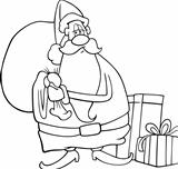 santa claus cartoon for coloring book