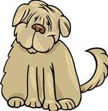shaggy terrier dog cartoon illustration