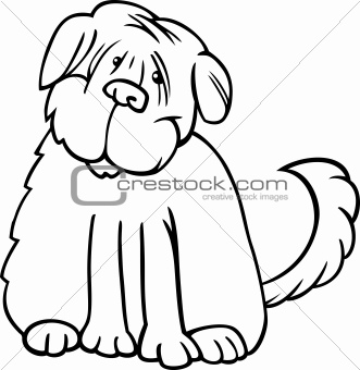 shaggy terrier cartoon for coloring