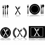 Cutlery and plate icons