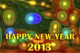 Happy New Year 2013 on festive background