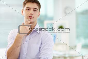 Handsome businessman