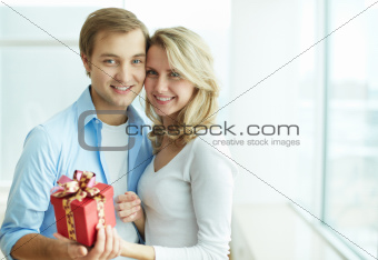 Couple with present