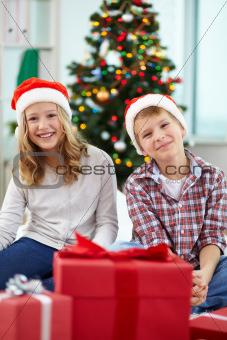 Joyful siblings