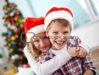 Affectionate kids