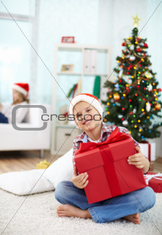 Lad with gift