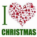 I love Christmas background