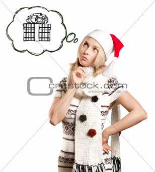 Woman Waiting For Christmas