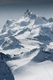 Snow mountain peaks