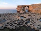 rocky arch in gozo