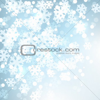 Background  with stylized snowflakes.