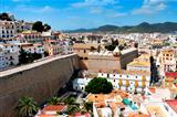 Dalt Vila, the old town of Ibiza Town, in Ibiza, Balearic Islands, Spain