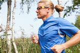 Trail runner in summer