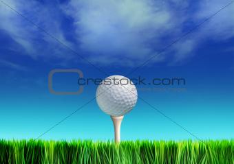 tee and golf-ball
