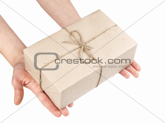 hands with a parcel