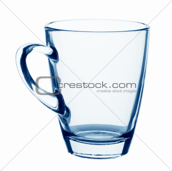 Empty glass mug