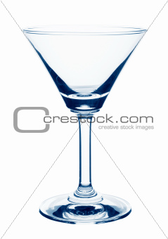 Empty glass of martini