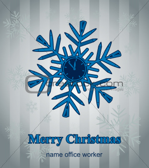 Christmas snowflake out of office supplies