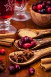 Preparing cranberry hot mulled wine