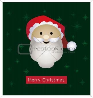 Santa Clause greeting card vector