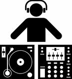 Pictogram of a DJ