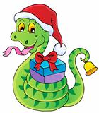 Christmas snake theme image 1