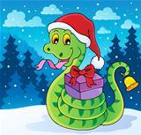Christmas snake theme image 2