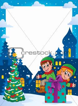 Christmas topic frame 4