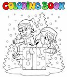 Coloring book Christmas elf theme 2