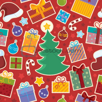 Seamless background Christmas 1