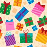Seamless background gift theme 1