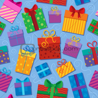 Seamless background gift theme 2